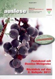 auslese - Ausgabe 2|2011 - Weinbruderschaft Franken
