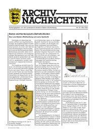 Landesgeschichte(n) - Landesarchiv Baden Württemberg