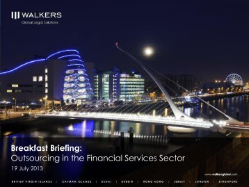 Outsourcing in the Financial Services Sector
