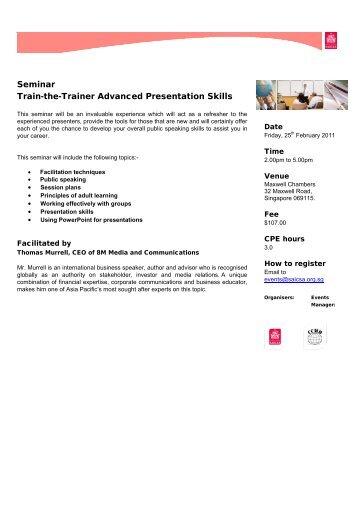 effective presentation skills training seminars