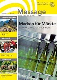 Message Ausgabe 1/2007 - Messe Stuttgart
