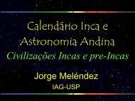 Calendário Inca e Astronomia Andina