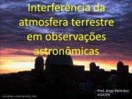 Interferência da atmosfera terrestre em observações astronômicas