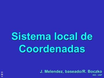 Sistema local de Coordenadas