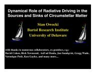 Dynamical Role of Radiative Driving in the Sources and Sinks of ...