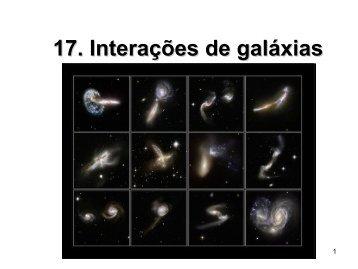 17. Interações entre galáxias