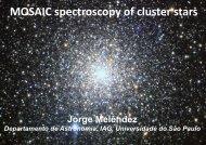 MOSAIC spectroscopy of cluster stars