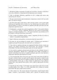 Lista de Exercícios III - Astronomia