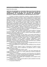 INSTITUTO DE ASTRONOMIA, GEOFÍSICA E CIÊNCIAS ... - USP