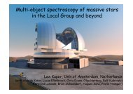Multi-object spectroscopy of massive stars in the Local Group and beyond