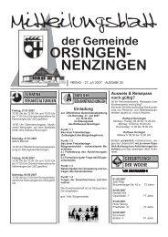 Einladung Ausweis & Reisepass noch gültig? - Orsingen - Nenzingen