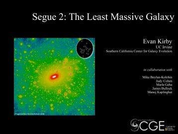 Segue 2 The Least Massive Galaxy