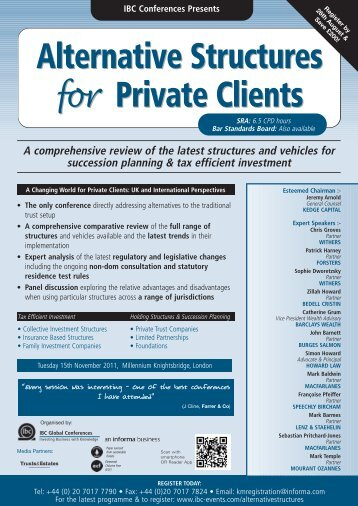Alternative Structures Private Clients