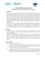 Page | 1 TERMS OF REFERENCE FOR CONSULTANCY Design ...