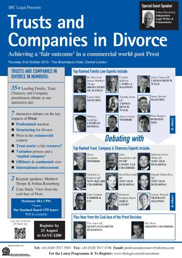 Trusts and Companies in Divorce