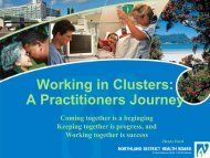 A Practitioners Journey - Health Promoting Schools
