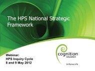 The HPS National Strategic Framework
