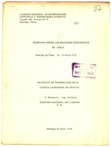 CARBON S A Santiago de Chile 1974