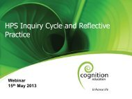 HPS Inquiry Cycle and Reflective Practice