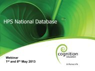 HPS National Database 1 and 8 May 2013 - Health Promoting Schools
