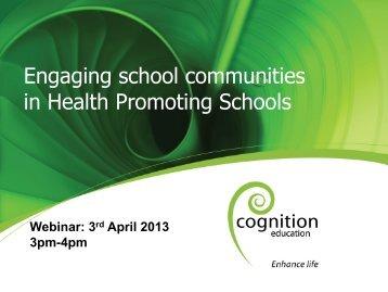 Engaging school communities in Health Promoting Schools