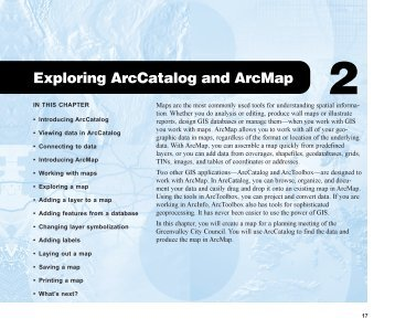 Exploring ArcCatalog and ArcMap
