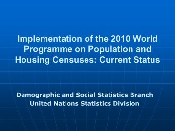 2010 World Programme on Population and Housing Censuses ...