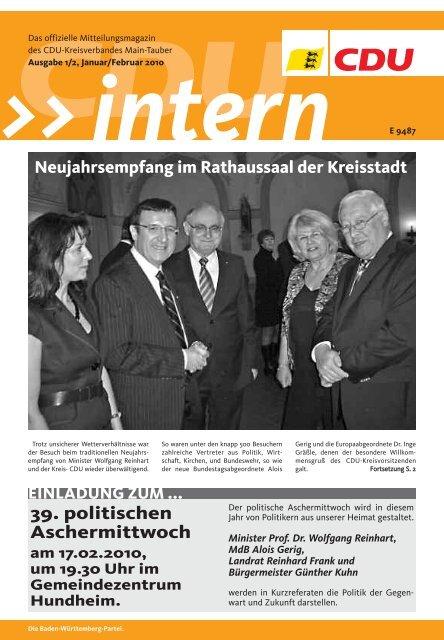 Aus dem Kreisverband KREISTEIL - CDU Main-Tauber
