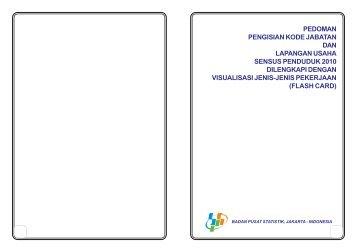 pedoman pengisian kode jabatan dan lapangan usaha sensus