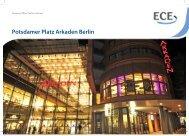 Potsdamer Platz Arkaden Berlin - ECE