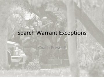 search warrants and exceptions Minnesota law enforcement agency and applications will not be accepted without the  understand requirements for a search warrant exceptions to the requirement for.