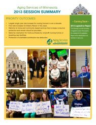 2013 SESSION SUMMARY - Aging Services of Minnesota