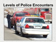 Levels of Police Encounters