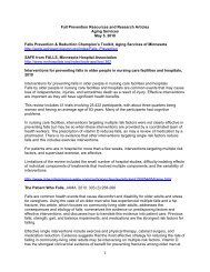 1 Fall Prevention Resources and Research Articles Aging Services ...