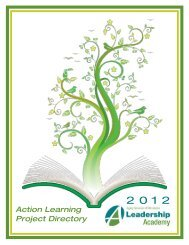 2012 Action Learning Projects - Aging Services of Minnesota
