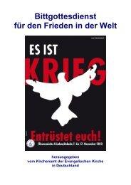 Bittgottesdienst für den Frieden in der Welt 2010 - Evangelische ...