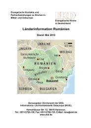 Länderinformation Rumänien Stand: Mai 2010 - Evangelische ...