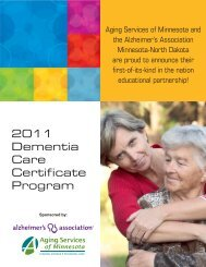 2011 Dementia Care Certificate Program