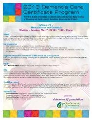 2013 Dementia Care Certificate Program