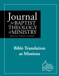 Bible Translation as Missions
