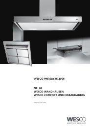 WESCO PREISLISTE 2006 NR. 02 WESCO WANDHAUBEN ...
