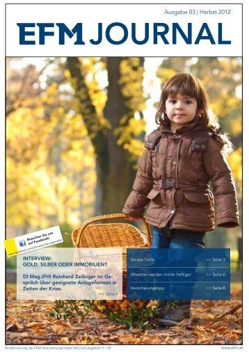 Ausgabe 03   Herbst 2012 - EFM Versicherungsmakler AG