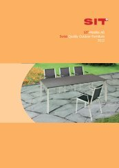 SIT-Mobilia AG Swiss Quality Outdoor Furniture 2012