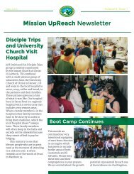 Mission UpReach Newsletter - July 2015