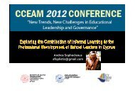 Exploring the contribution of informal learning to the ... - CCEAM 2012