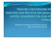 Michalinos Zembylas and Sotiroula Iasonos Open University of Cyprus