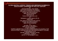 Educational Leadership - CCEAM 2012