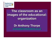 The classroom as an images of the educational organization