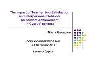 job satisfaction - CCEAM 2012