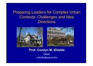 Preparing Leaders for Complex Urban Contexts Challenges and New Directions